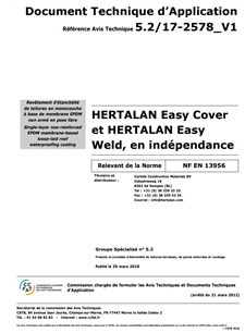 Document Technique d`Application HERTALAN®